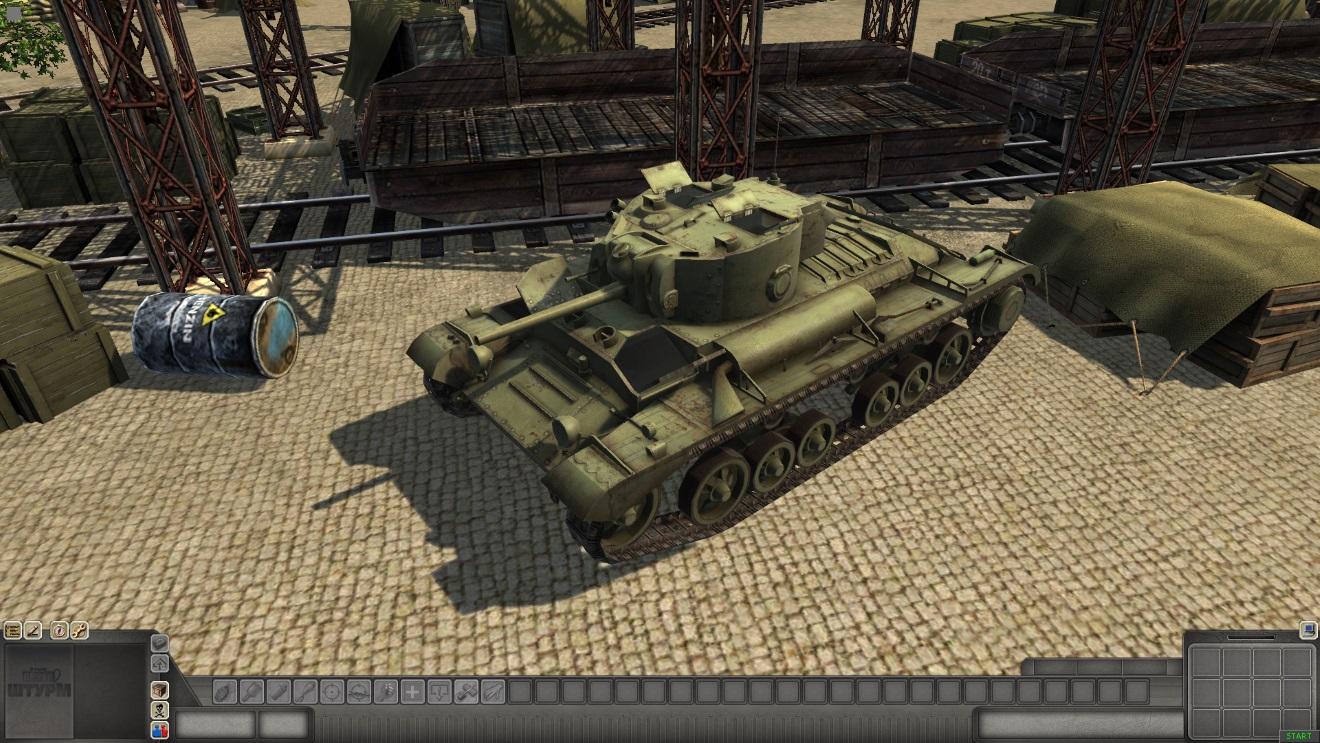 Скачать 3D модель Valentine_MkX — автор SMF, (не отзеркаленная модель)