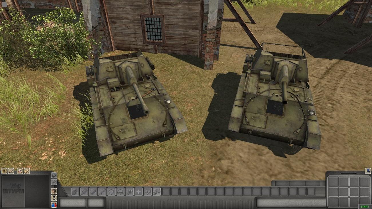 Скачать SU-76M — автор SMF, (не отзеркаленные модели) — бесплатно