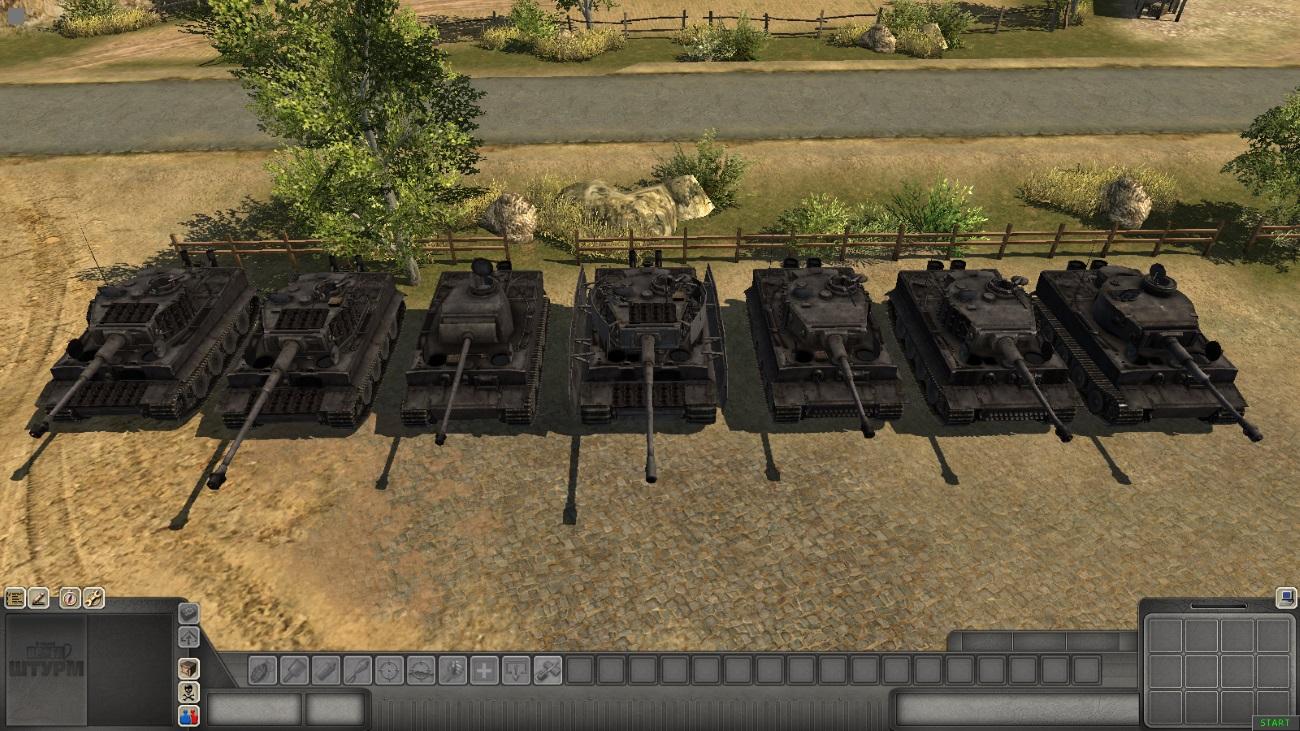 Скачать 3D модель Tiger I — автор SMF, (не отзеркаленные модели)