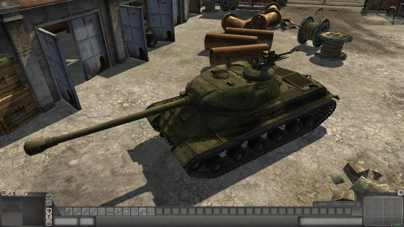 Скачать 3D модель IS-2_1944 — автор SMF, (не отзеркаленная модель)