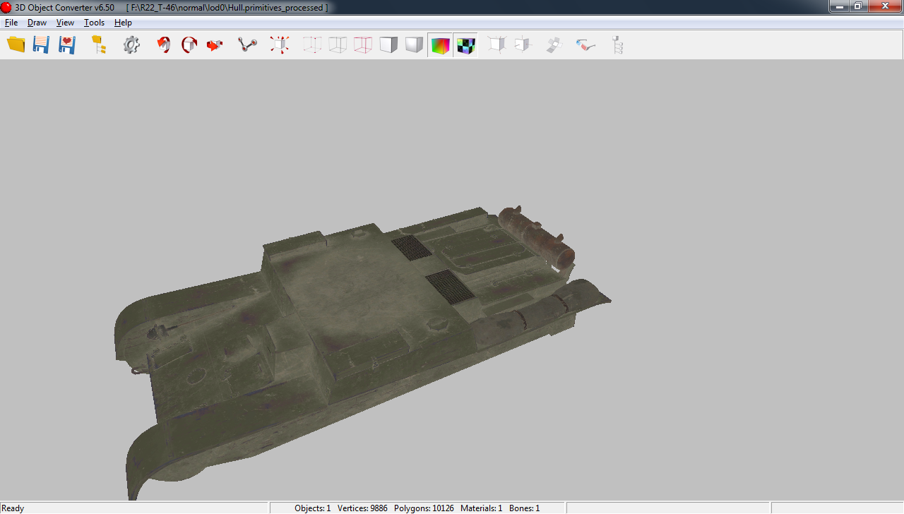 Скачать 3D модель 3D Object Converter v6.50 (Конвертор моделей из World Of Tanks в 3D Max)
