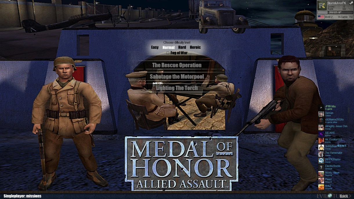 Скачать 3D модель Medal of Honor Allied Assault Mod By Sturmfuhrer PK (AS2 — 3.262.0) (v30.01.2019)