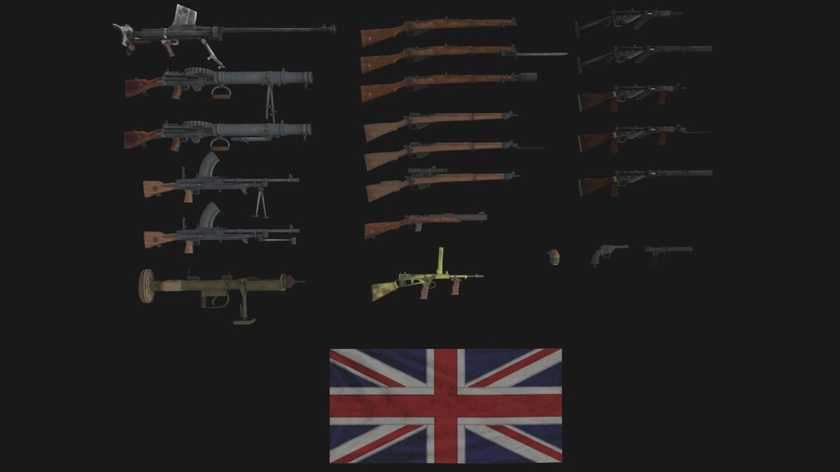 HD infantry weapons for #valour / HD оружие для Отваги (AS2 — 3.262.0) (v26.04.2020)