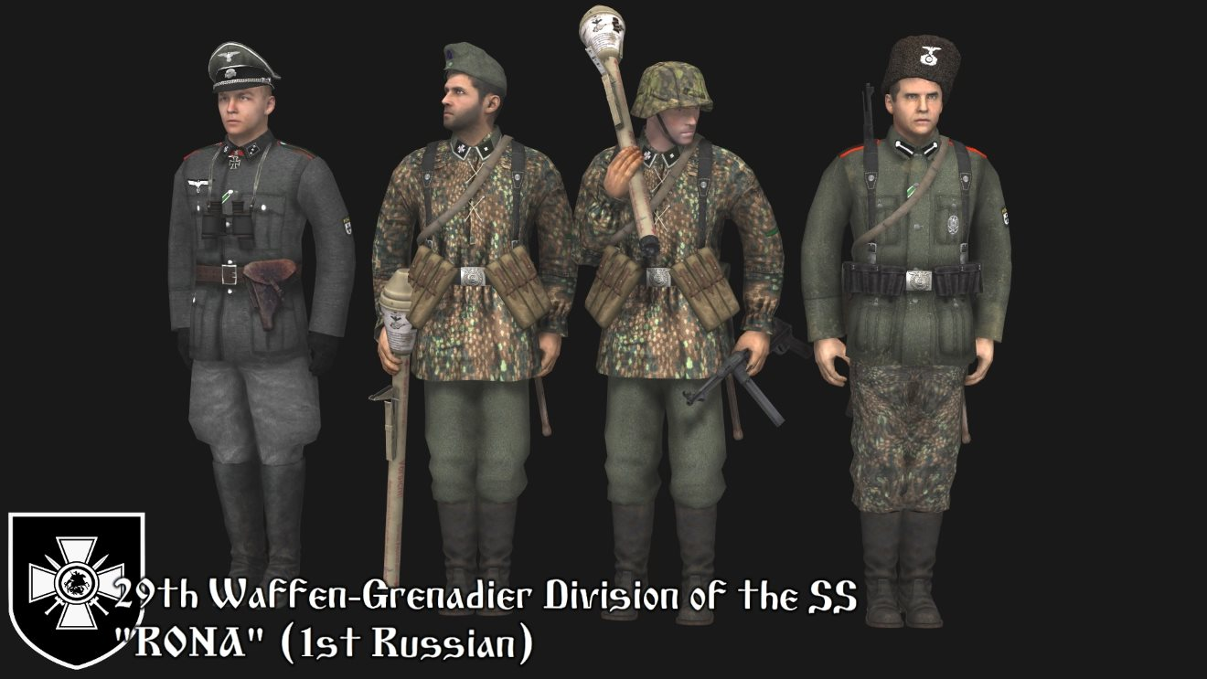 Russian Liberation Army (Skins for Robz Realism Mod) (AS2 — 3.262.0) (v20.04.2019)
