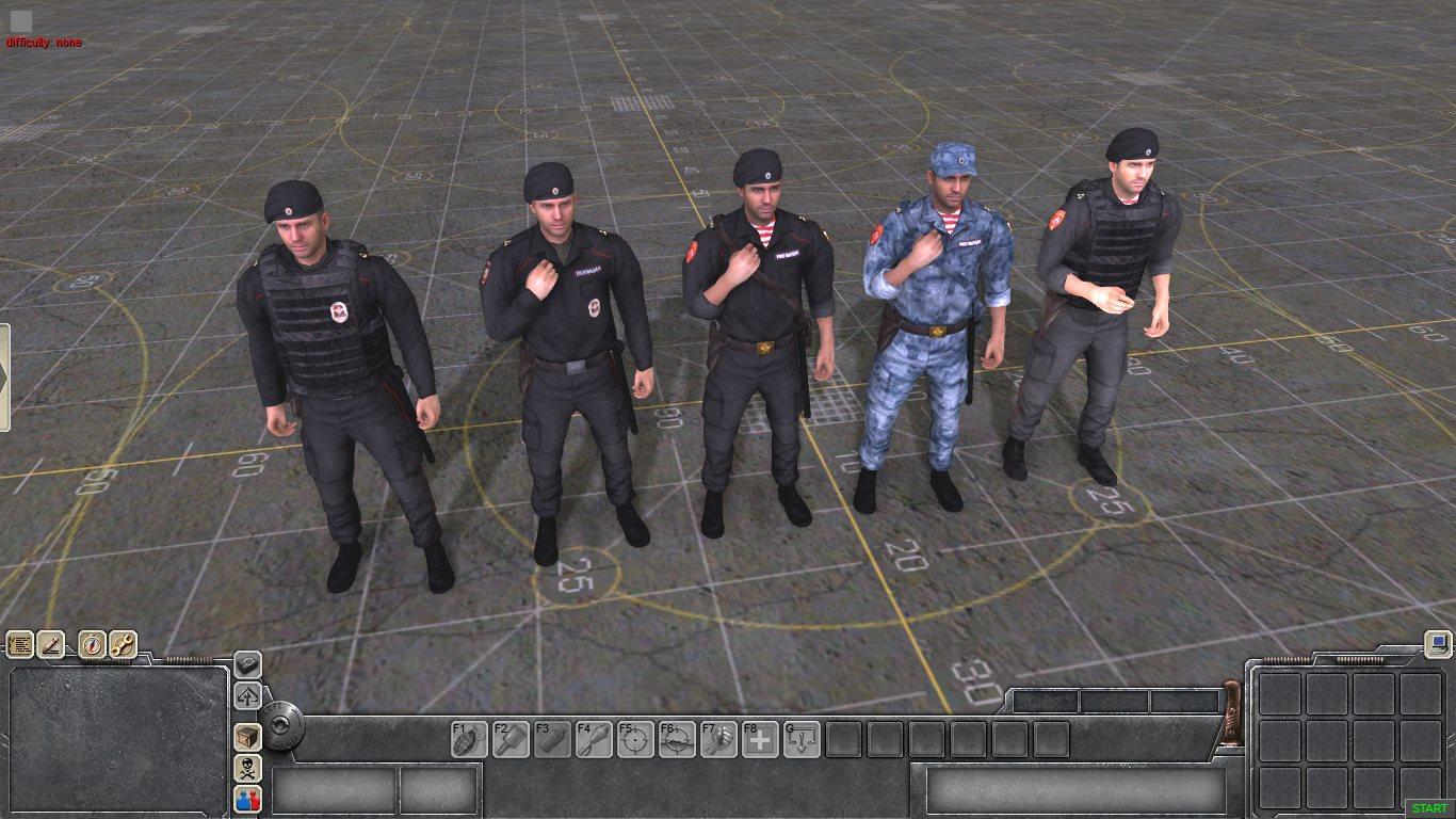 Бойцы Полиции и Росгвардии