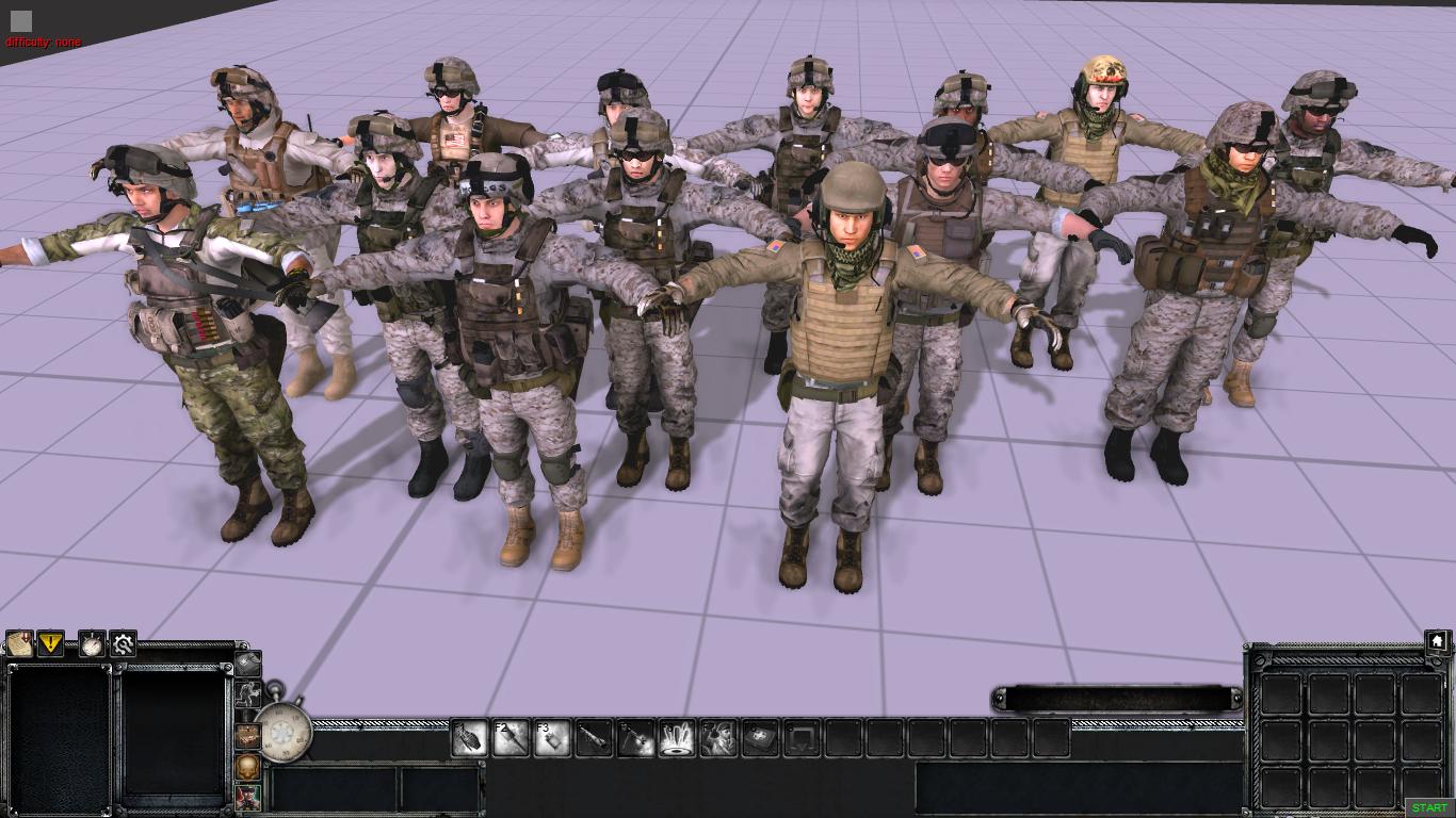 Пехотинцы США из игры Battlefield 3