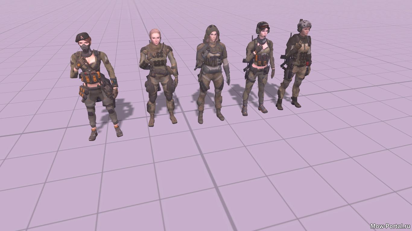 Скачать файл Warface Skins: Girls Class (AS2 — 3.262.0) (v03.07.2020)