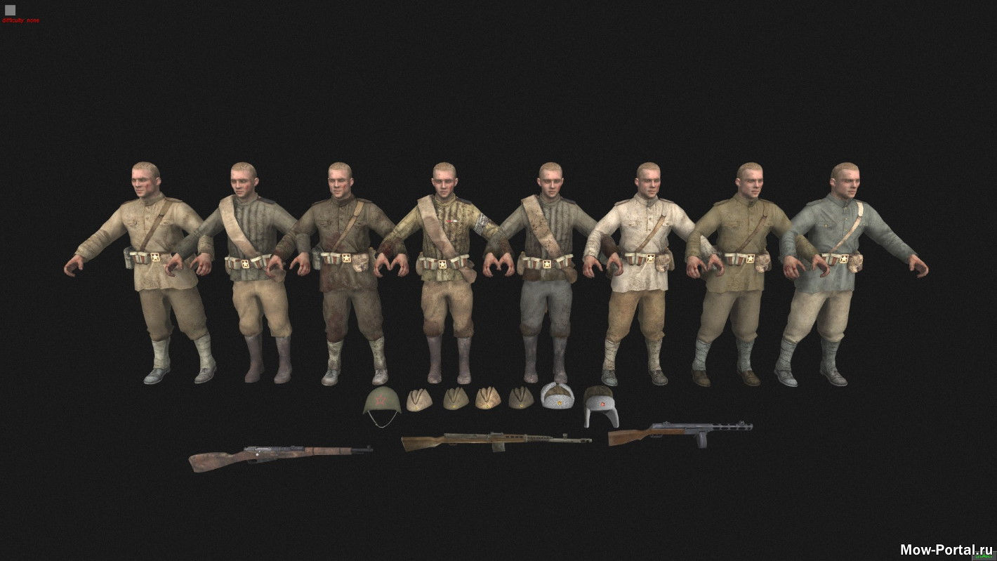 Call of Duty World at War Remasterd Skins (AS2 — 3.262.0) (v25.07.2020)