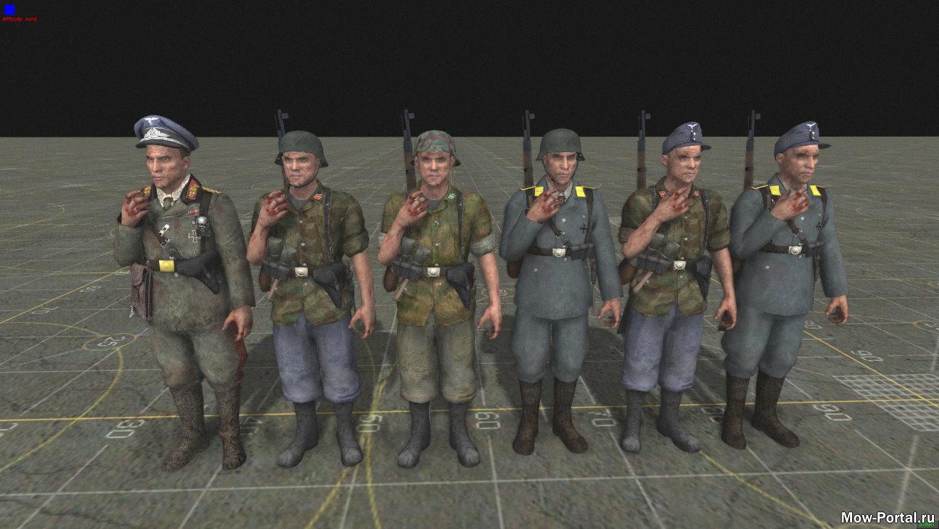 Скачать Call of Duty World at War Remasterd Skins (AS2 — 3.262.0) (v25.07.2020)