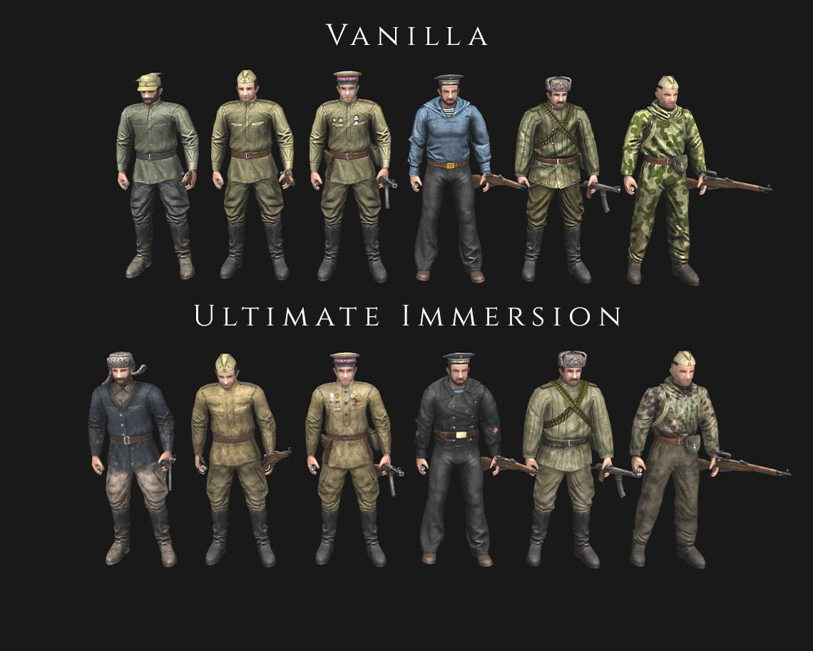 Ultimate Immersion Skins & Camo - For Multiplayer (AS2 — 3.262.0) (v05.12.2020)